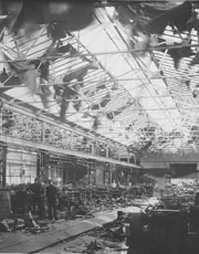 Bombing Damage of Newman's Factory, Yate