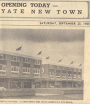 Yate Shopping Centre Opening in Gazette